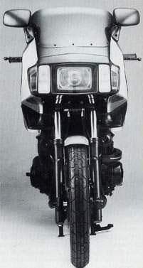 Kawasaki 750 Turbo, front view