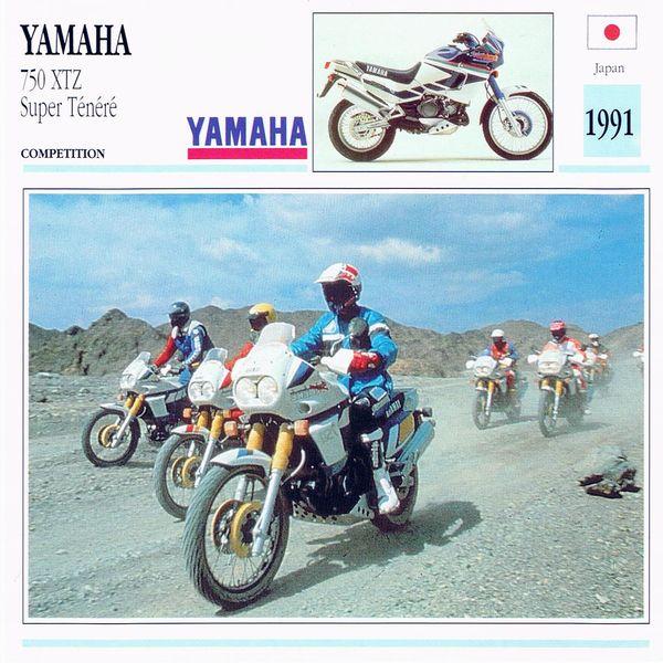 Yamaha 750 XTZ Supere Ténéré card