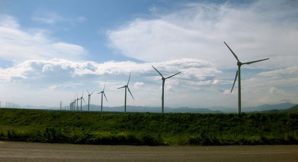 Wind farm entering Chiapas Mexico