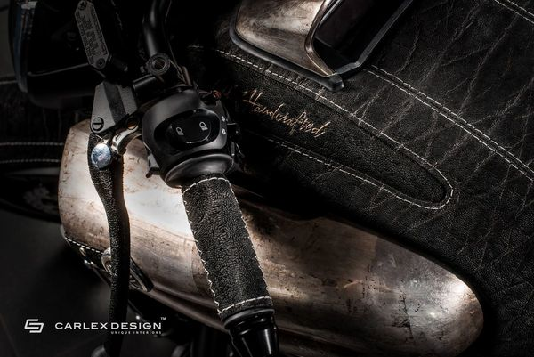 The SteamPunk V-Max is all leather and metal