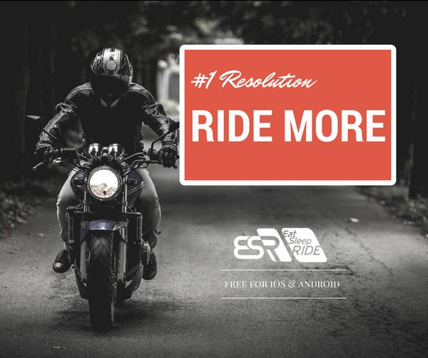 #1 Resolution: Ride more #ESRapp