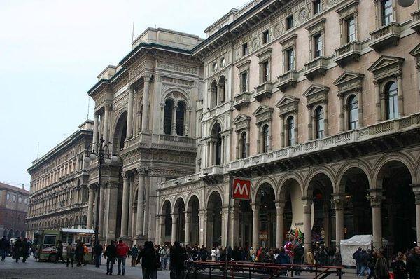 Galleria Vittoro Emanuele II front facade