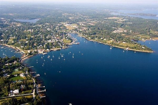 Chester, Nova Scotia from above