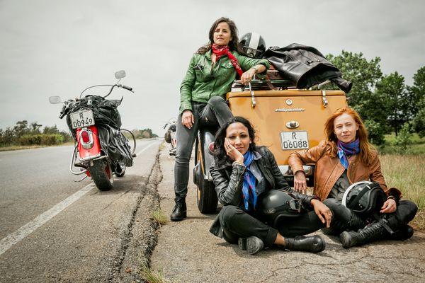 Touring Cuba on Fernando's vintage Harley Davidsons!