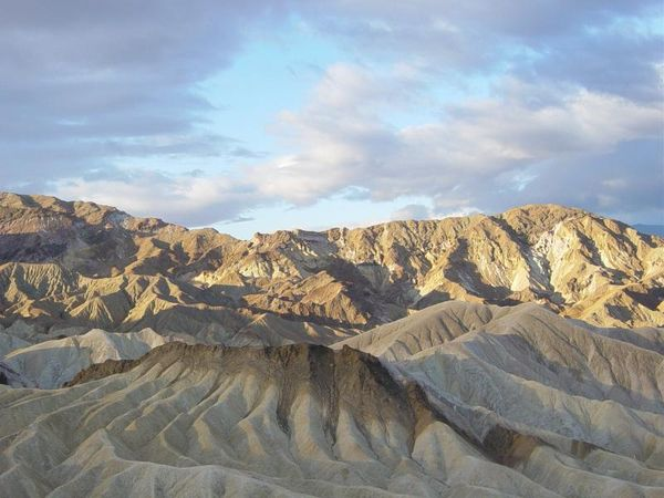 Zabriskie Point at sunrise in Death Valley