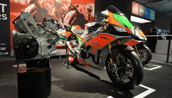 The FW GP on display #2 (photo Aprilia)