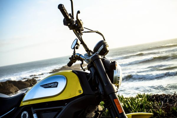 2015 Ducati Scrambler Icon edition with streamlined gas tank
