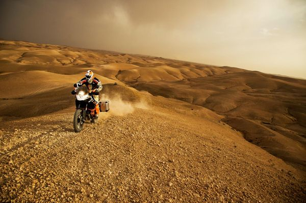 2013 KTM 1190 Adventure R in action 5