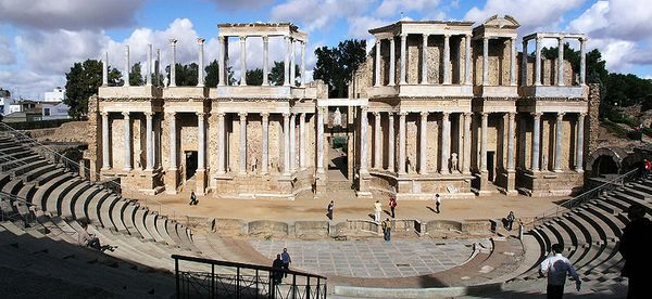 Ruins of a Roman theatre in Merida