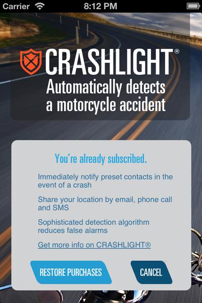 Get CRASHLIGHT  - EatSleepRIDE Motorcycles App
