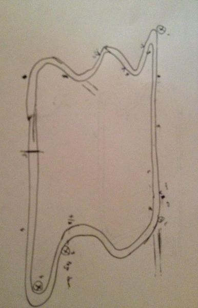 Shannonville Race Track - Hand drawing