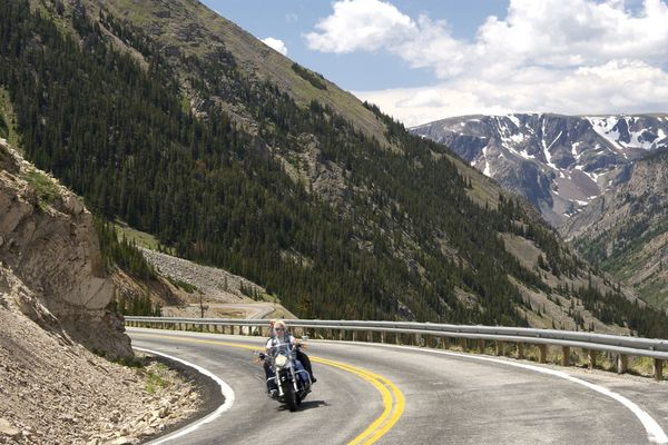 Beartooth Pass Motorcycle Road