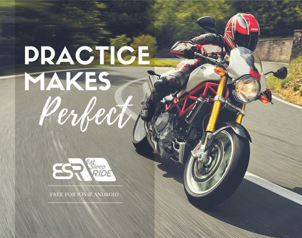 Practice makes perfect. Track your speed & lean angle on every turn with the #ESRapp