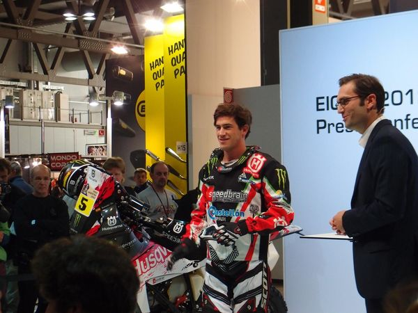 Joan Barreda Team Husky at EICMA