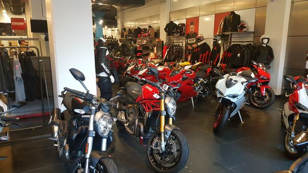 First visit at ducati triumph in Manhattan