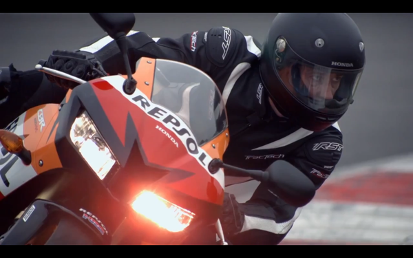 The calmness of this riders face