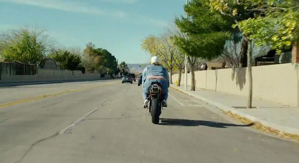 Superbowl commercial heavy-set man on a bike - rear view