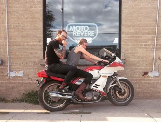 Andrea and Peter of Moto Revere DIY Motorcycle Garage