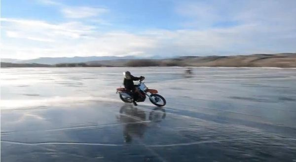 Motorcycle ice speedway