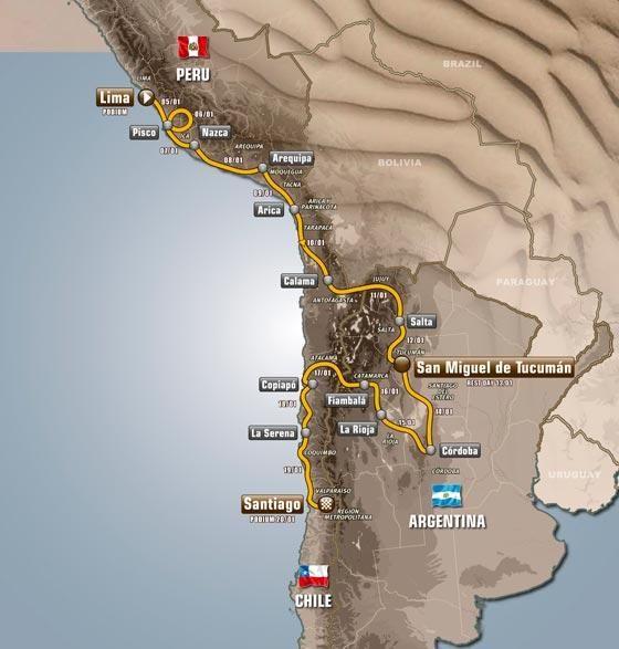 2013 Dakar Rally Route