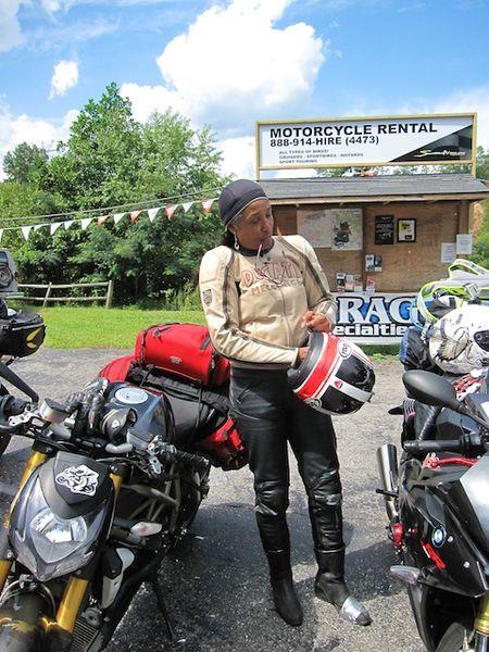 Woman's Sportbike Rider - Ducati