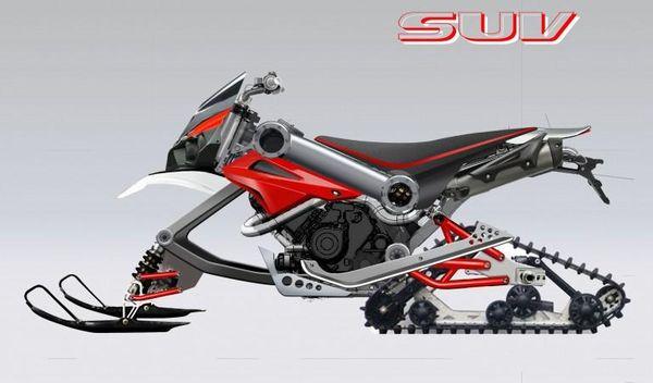 Over Brutus - snowmobile mode