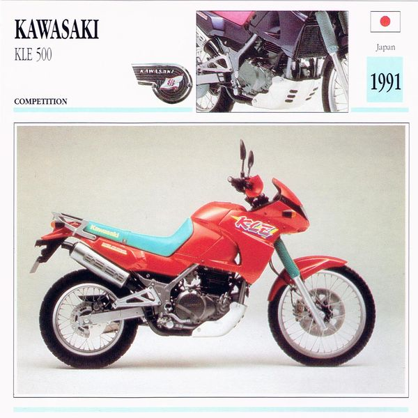 Kawasaki KLE 500 Card