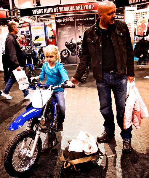 Little racer on a KTM kids 2-stroke