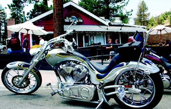 Cool looking bike in front of The Yodeler Photo Credit: Rider Magazine - http://esr.cc/KRkOSn