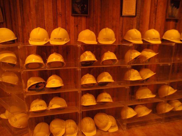 Laurel Cavern hard hats for 3 hour tour