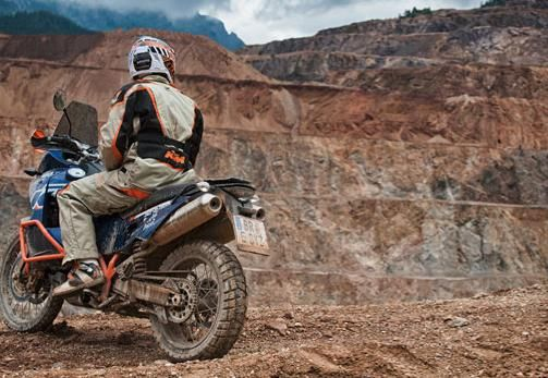 KTM 990 Adventure in the dirt