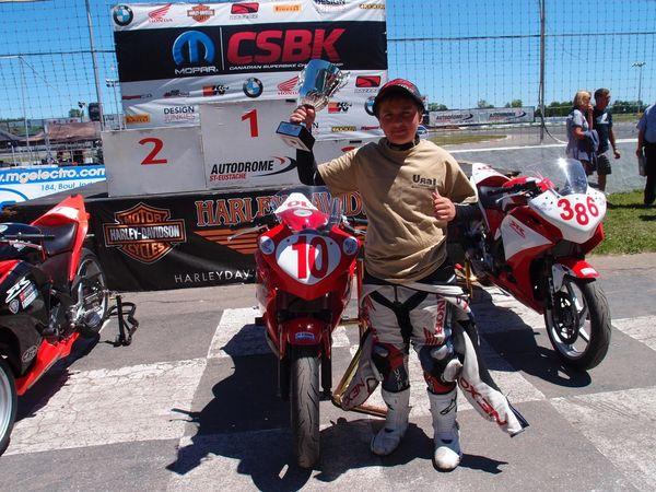 Casas and his CBR250R Race #2 St-Eustache CBR250 CSBK '12