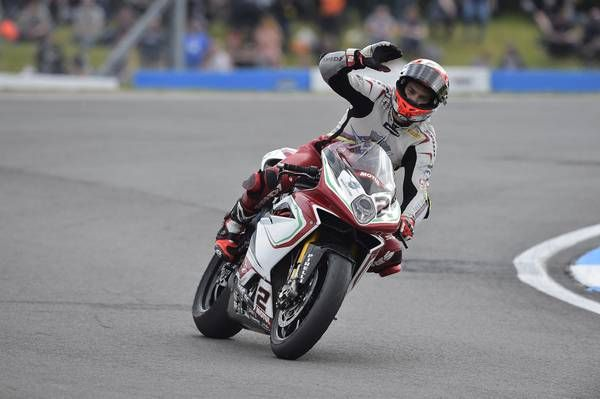 Leon Camier after a hard fought podium