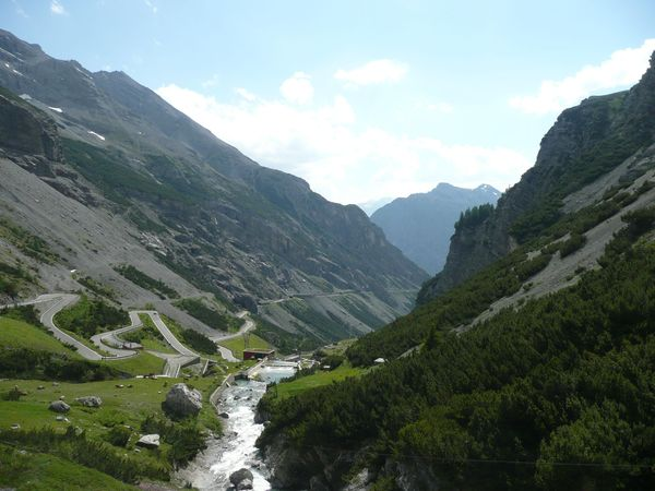 Fantastic view of the Valley, Stelvio Pass, Italy