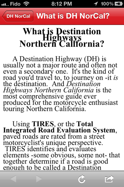 An Intro Page explaining Destination Highways (heading text needs to be adjusted).