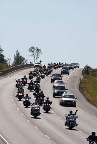 The Police Memorial Ride motorcade