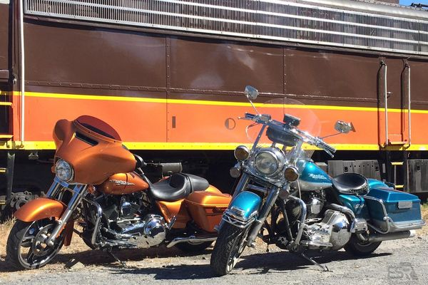 2014 FLHX Street Glide with 1994 Road King Harley Davidsons