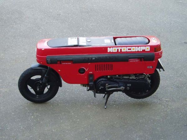 Honda Motocompo mini motorcycle folded down