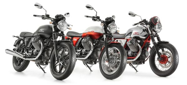 The Trio - 2013 Moto Guzzi V7 Stone, Special and Racer