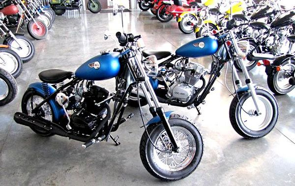 A slew of customized CSC Motorcycles