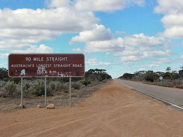 Nullarbor Plain 90 Mile Road Sign