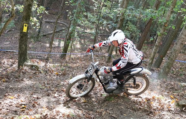 Tight quarters on the Trials course