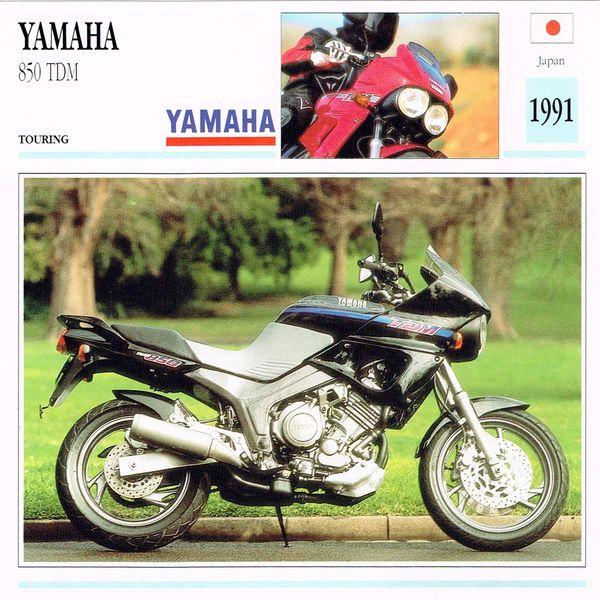 Yamaha 850 TDM card