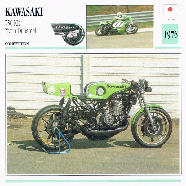 1976 Kawasaki 750 KR card