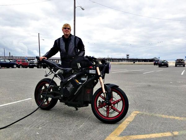 Terry Hershner and his long distance capable 2012 Zero S