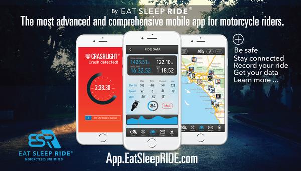 EatSleepRIDE Motorcycle GPS App