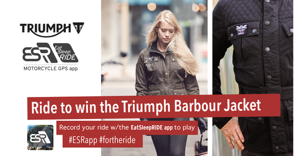 Triumph Barbour Jacket Leaderboard Challenge #6 #fortheride