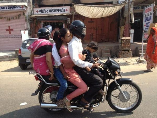 You don't need a family sedan when you have a motorcycle.