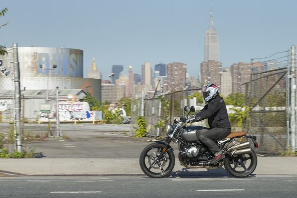Blasting around Williamsburg, NY on a Scrambler