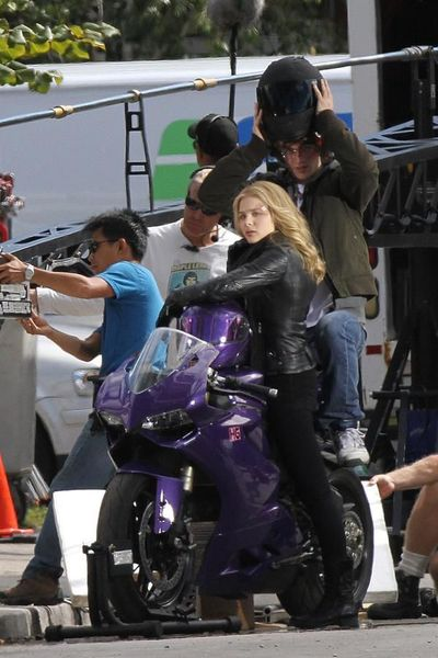 Chloe Moretz's Purple Ducati 1199 - Kick-Ass 2